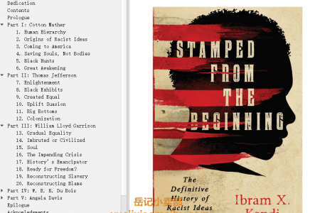 【配音频】Stamped from the Beginning: The Definitive History of Racist Ideas in America by Ibram X. Kendi(mobi,epub,pdf)