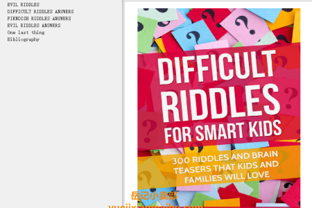 【电子书】Difficult Riddles For Smart Kids: 300 Difficult Riddles And Brain Teasers Families Will Love by M. Prefontaine Brain Stretching Riddles(mobi,epub,pdf)