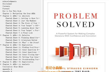 【配音频】Problem Solved: A Powerful System for Making Complex Decisions with Confidence and Conviction by Cheryl Strauss Einhorn(mobi,epub,pdf)