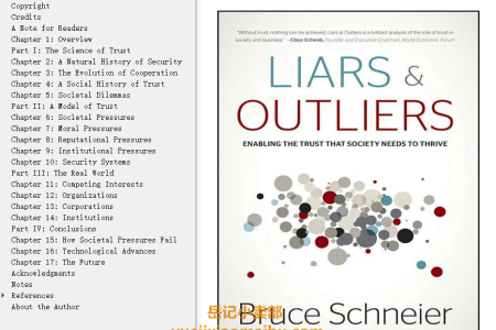 【配音频】Liars and Outliers: Enabling the Trust that Society Needs to Thrive by Bruce Schneier(mobi,epub,pdf)