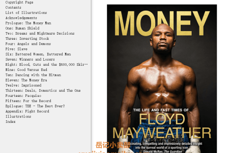 【电子书】Money: The Life and Fast Times of Floyd Mayweather – New Edition by Tris Dixon(mobi,epub,pdf)