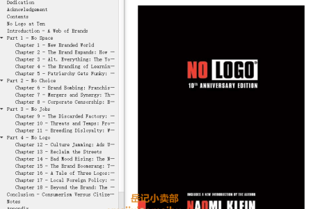【配音频】No Logo 10th Anniversary Edition: Taking Aim at the Brand Bullies by Naomi Klein(mobi,epub,pdf)