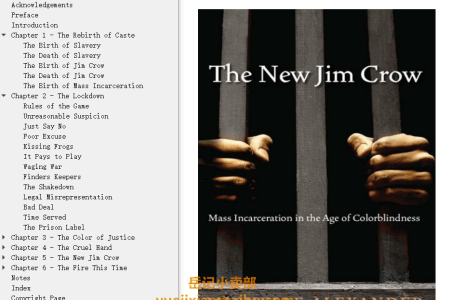 【配音频】The New Jim Crow: Mass Incarceration in the Age of Colorblindness by Michelle Alexander(mobi,epub,pdf)
