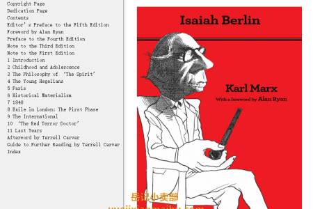 【电子书】Karl Marx 5th Edition: Thoroughly Revised  by Isaiah Berlin(mobi,epub,pdf)