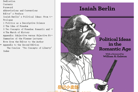 【电子书】Political Ideas in the Romantic Age Updated Edition: Their Rise and Influence on Modern Thought  by Isaiah Berlin(mobi,epub,pdf)