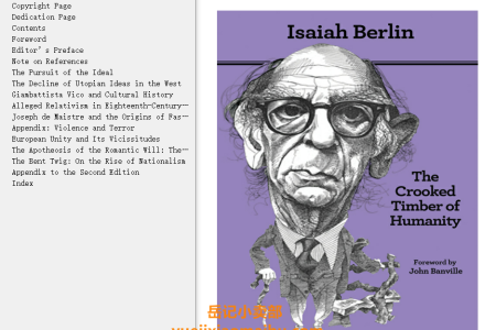 【电子书】The Crooked Timber of Humanity 2nd Edition: Chapters in the History of Ideas  by Isaiah Berlin(mobi,epub,pdf)