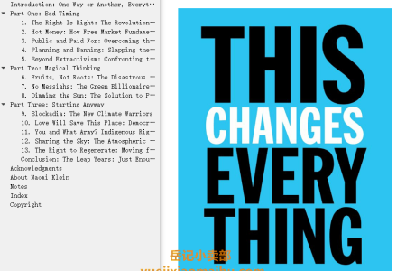 【配音频】This Changes Everything: Capitalism vs. The Climate by Naomi Klein(mobi,epub,pdf)