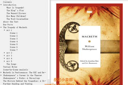 【配音频】Macbeth by William Shakespeare(mobi,epub,pdf)