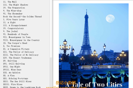 【配音频】A Tale of Two Cities by Charles Dickens(mobi,epub,pdf)