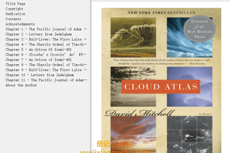 【配音频】Cloud Atlas by David Mitchell(mobi,epub,pdf)