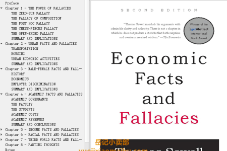 【配音频】Economic Facts and Fallacies 2nd Edition by Thomas Sowell(mobi,epub,pdf)