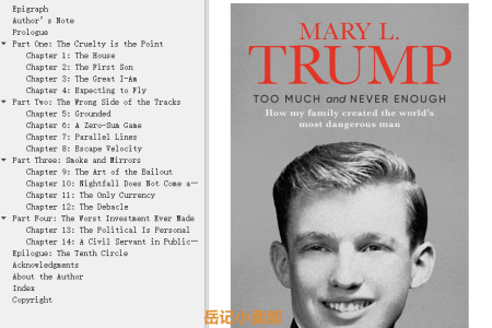 【配音频】Too Much and Never Enough: How My Family Created the World's Most Dangerous Man by Mary L. Trump(mobi,epub,pdf)