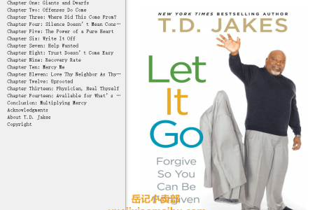 【配音频】Let it Go: Forgive So You Can Be Forgiven by T.D. Jakes(mobi,epub,pdf)