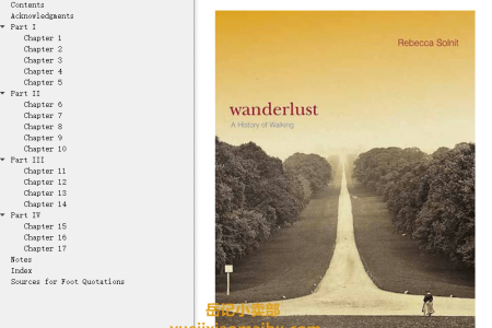 【配音频】Wanderlust: A History of Walking by Rebecca Solnit(mobi,epub,pdf)