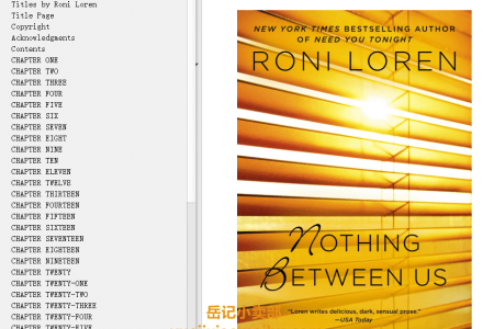 【电子书】Nothing Between Us (Loving on the Edge #7) by Roni Loren(mobi,epub,pdf)
