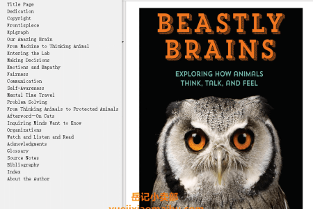 【配音频】Beastly Brains: Exploring How Animals Think, Talk, and Feel by Nancy F. Castaldo(mobi,epub,pdf)