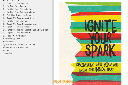 【电子书】Ignite Your Spark: Discovering Who You Are from the Inside Out by Patricia Wooster(mobi,epub,pdf)