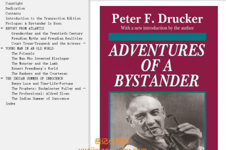 【电子书】Adventures of a Bystander by Peter F. Drucker(mobi,epub,pdf)