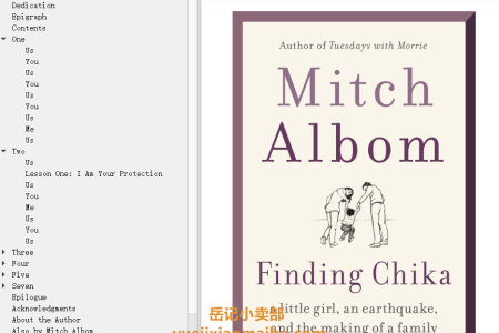 【配音频】Finding Chika: A Little Girl, an Earthquake, and the Making of a Family by Mitch Albom(mobi,epub,pdf)