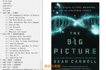 【配音频】The Big Picture: On the Origins of Life, Meaning, and the Universe Itself by Sean Carroll(mobi,epub,pdf)