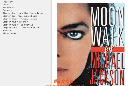 【电子书】Moonwalk by Michael Jackson(mobi,epub,pdf)