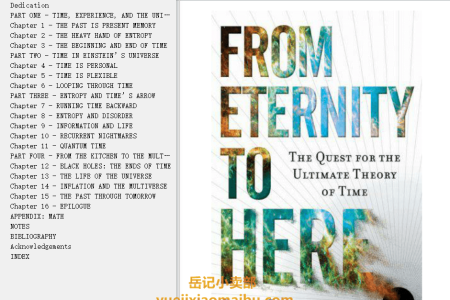 【配音频】From Eternity to Here: The Quest for the Ultimate Theory of Time by Sean Carroll(mobi,epub,pdf)