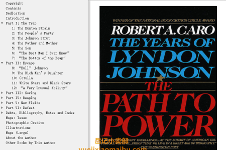 【配音频】The Path to Power (The Years of Lyndon Johnson #1) by Robert A. Caro(mobi,epub,pdf)