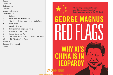 【配音频】Red Flags: Why Xi's China Is in Jeopardy by George Magnus(mobi,epub,pdf)