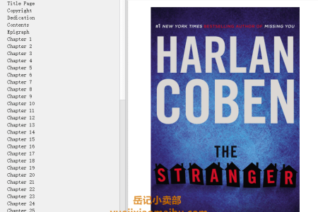 【配音频】The Stranger by Harlan Coben(mobi,epub,pdf)