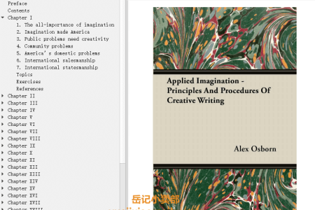 【电子书】Applied Imagination: Principles and Procedures of Creative Thinking by Alex F. Osborn(mobi,epub,pdf)