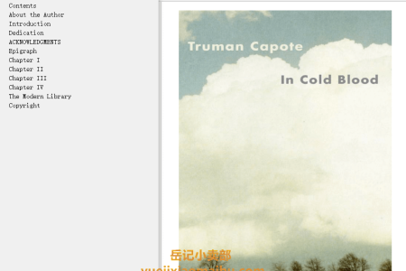 【配音频】In Cold Blood by Truman Capote(mobi,epub,pdf)