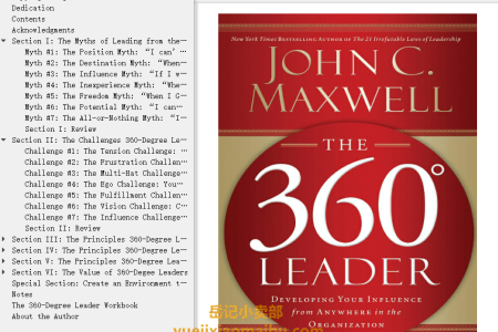 【配音频】The 360 Degree Leader: Developing Your Influence from Anywhere in the Organization by John C. Maxwell(mobi,epub,pdf)