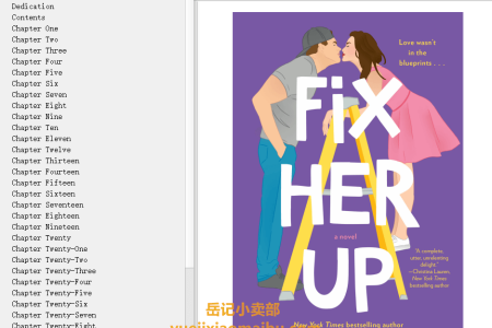 【配音频】Fix Her Up (Hot & Hammered #1) by Tessa Bailey(mobi,epub,pdf)