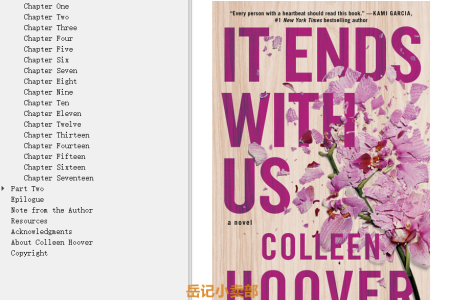 【配音频】It Ends with Us by Colleen Hoover(mobi,epub,pdf)