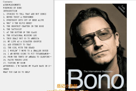 【电子书】Bono: In Conversation with Michka Assayas by Michka Assayas(mobi,epub,pdf)
