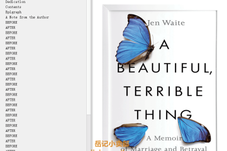【配音频】A Beautiful, Terrible Thing: A Memoir of Marriage and Betrayal by Jen Waite(mobi,epub,pdf)