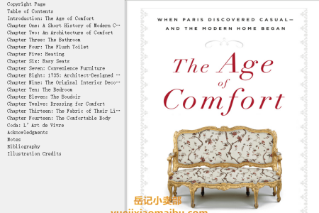 【配音频】The Age of Comfort: When Paris Discovered Casual—and the Modern Home Began by Joan DeJean(mobi,epub,pdf)