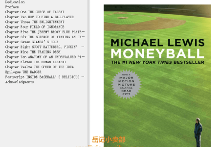 【配音频】Moneyball: The Art of Winning an Unfair Game by Michael Lewis(mobi,epub,pdf)