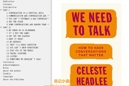 【配音频】We Need to Talk: How to Have Conversations that Matter by Celeste Headlee(mobi,epub,pdf)