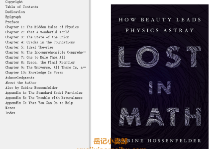 【配音频】Lost in Math: How Beauty Leads Physics Astray by Sabine Hossenfelder(mobi,epub,pdf)