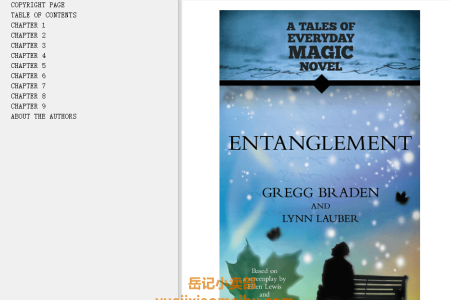 【电子书】Entanglement: A Tales of Everyday Magic Novel by Gregg Braden, Lynn Lauber(mobi,epub,pdf)