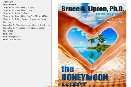 【配音频】The Honeymoon Effect: The Science of Creating Heaven on Earth by Bruce H. Lipton(mobi,epub,pdf)
