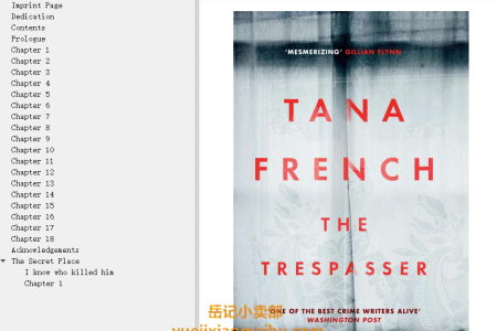 【配音频】The Trespasser (Dublin Murder Squad #6) by Tana French(mobi,epub,pdf)