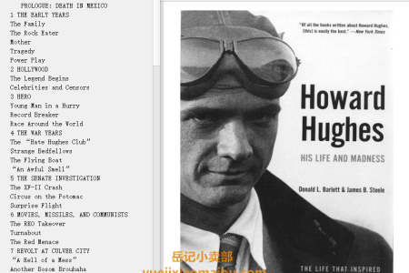 【电子书】Howard Hughes: His Life and Madness by Donald L. Barlett, James B. Steele(mobi,epub,pdf)