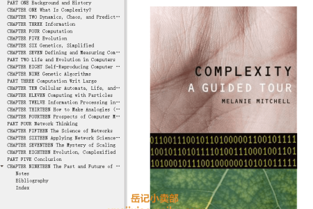 【电子书】Complexity: A Guided Tour by Melanie Mitchell(mobi,epub,pdf)