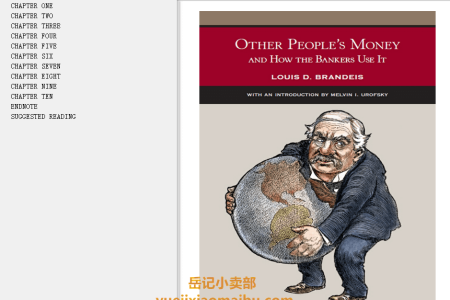 【配音频】Other People's Money and How the Bankers Use It (The Bedford Series in History and Culture) by Louis D. Brandeis(mobi,epub,pdf)