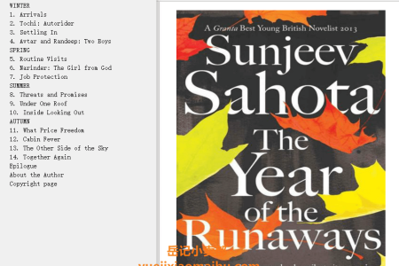 【配音频】The Year of the Runaways by Sunjeev Sahota(mobi,epub,pdf)