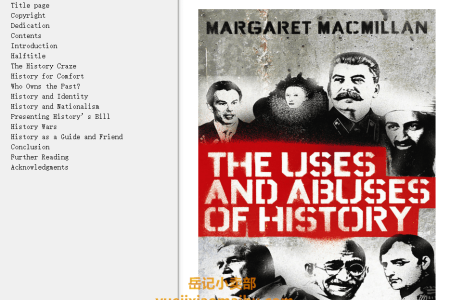 【电子书】The Uses and Abuses of History (Modern Library Chronicles #31) by Margaret MacMillan(mobi,epub,pdf)