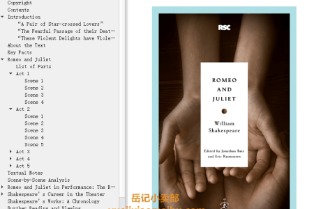 【配音频】Romeo and Juliet by William Shakespeare(mobi,epub,pdf)