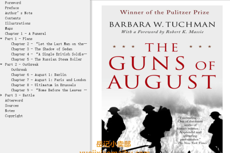 【配音频】The Guns of August by Barbara W. Tuchman(mobi,epub,pdf)
